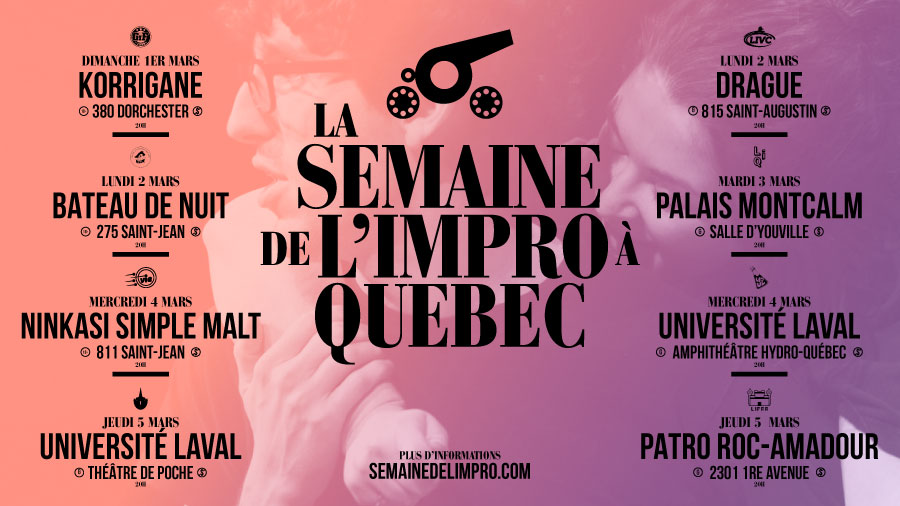 Semaine de l'impro à Québec 2020